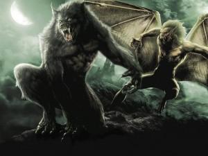 Дракула и оборотень - Постер